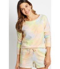 maurices womens multi tie dye crew neck sweatshirt