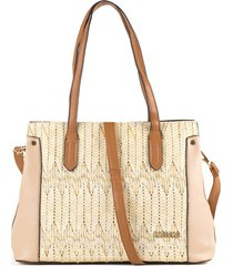 bolso tipo bowling color beige cosmos