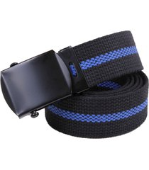 support police cops thin blue line lives matter blm cotton web belt with buckle