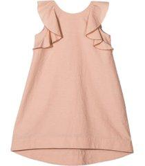 brunello cucinelli pink cotton-silk blend dress