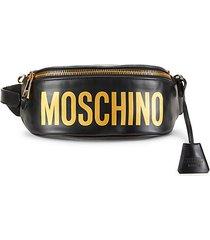 logo leather waist bag
