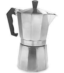 cafeteira tipo italiana moka 3 xãcaras - prata - dafiti