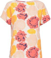 neliö pieni pioni shirt t-shirts & tops short-sleeved orange marimekko