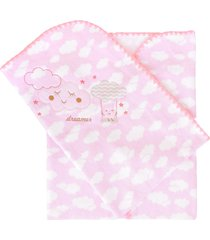 cobertor minasrey bordado com caixa alvinha rosa - rosa - menina - dafiti
