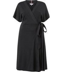 omlottklänning crv regular midi wrap dress ss