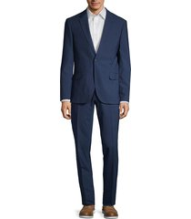 karl lagerfeld men's regular-fit wool blend suit - navy - size 42 l