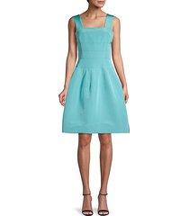 silk fit-&-flare dress
