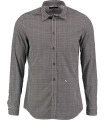 diesel zwart wit slim fit overhemd - valt 1 maat kleiner