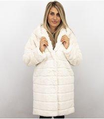 save style imitatie bontjas dames – parka – white wit
