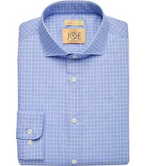 joe joseph abboud men's repreve® navy check slim fit dress shirt - size: 16 1/2 34/35