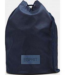 bolso tipo saco azul marino esprit