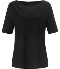 shirt 100% katoen boothals van green cotton zwart