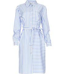 gestreepte midi-jurk kimoni  blauw