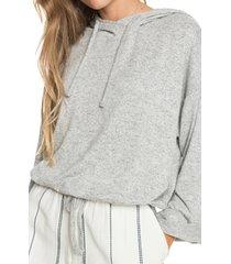 women's roxy super chill hoodie sweater, size large - grey
