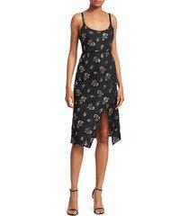 black iris women's the lady effie floral dress - black gold - size 2