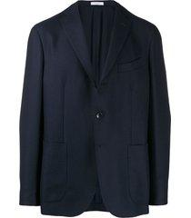 boglioli straight-fit blazer - blue
