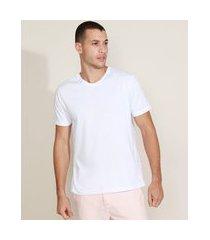 camiseta masculina básica manga curta gola v branca