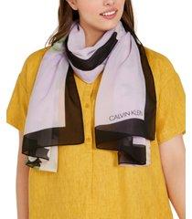 calvin klein floral chiffon scarf