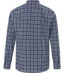 overhemd met staande kraag en borstzak van strellson blauw