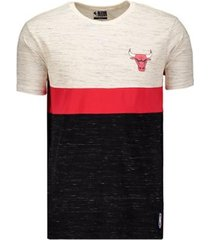 camiseta nba chicago bulls block colors natural masculina