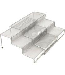 mind reader 3 tier metal mesh multi purpose kitchen storage organizer, 2 pieces