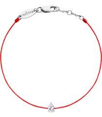 altesse pear diamond red cord bracelet