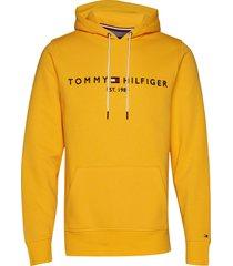 tommy logo hoody hoodie trui geel tommy hilfiger