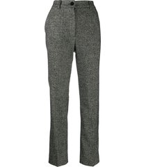 dolce & gabbana tailored tweed trousers - black