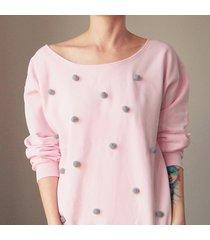 bluza z pomponami wybierz kolor s-xxl z