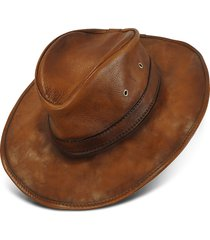 pratesi designer men's hats, genuine leather hat