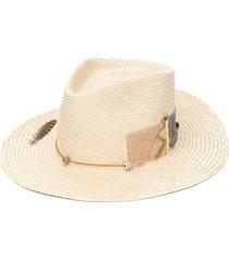 nick fouquet sand dollar beach straw hat - neutrals