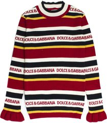 dolce & gabbana red cotton-cashmere blend sweater