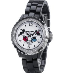 disney mickey and minnie women's enamel alloy watch 41mm