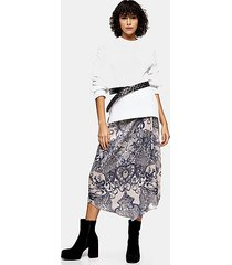 idol tattoo print sarong skirt - black