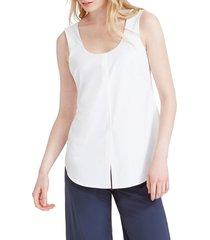 women's nic+zoe tie front tech stretch tank, size x-large - white