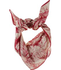 red valentino all-over printed scarf