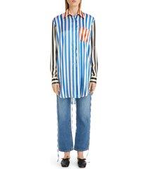 women's loewe stripe silk tunic shirt