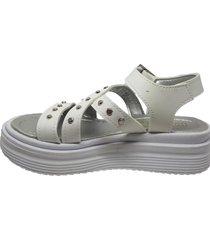 sandalia blanca keek