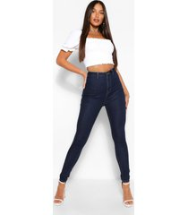 tall basic disco skinny jeans, dark blue