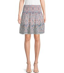 patterned circle skirt
