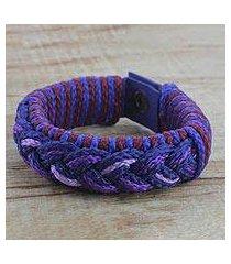 men's wristband bracelet, 'gloaming' (ghana)