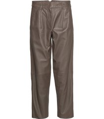 iris leather pants leather leggings/broek bruin mdk / munderingskompagniet