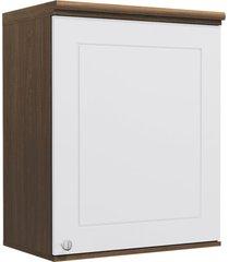 armário aéreo cozinha 60 cm provenzza 1 porta g622 jacarandá/branco - kappesberg