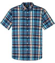 kortärmad skjorta i bäckebölja med bekvämt snitt