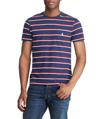 camiseta azul navy-blanco-vinotinto polo ralph lauren ssl tsh