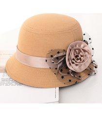 sombrero de mujer otoño e invierno gorro de lana británico dama retro