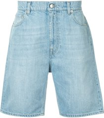 cerruti 1881 denim bermuda shorts - blue