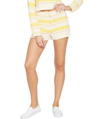 women's l space sun seeker cover-up shorts, size x-large - yellow
