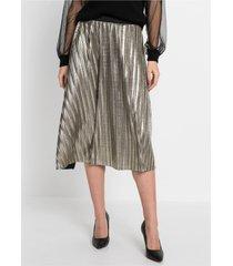 plissé rok in metallic look