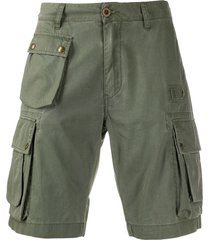 belstaff slim-fit cargo shorts - green